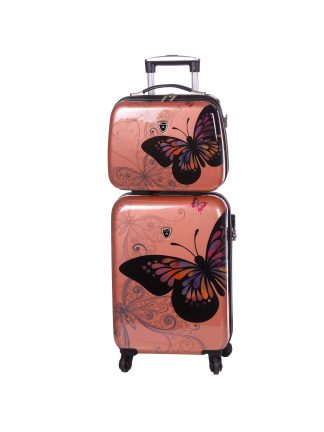 Valise-cabine-rigide-et-Vanity-case-rose-gold-Madisson
