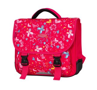 cartable rose fille snowball 95441A pas cher
